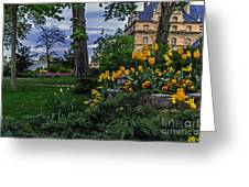 Sunset At Garden Of Les Invalides Greeting Card
