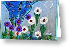 Garden Of The Full Moon Greeting Card