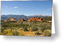 Garden Of The Gods And Pikes Peak - Colorado Springs Greeting Card