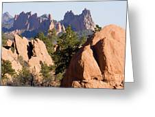 Garden Of The Gods And Red Rocks Open Space Greeting Card