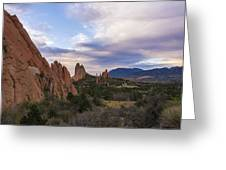 Garden Of The Gods At Sunrise - Colorado Springs Greeting Card