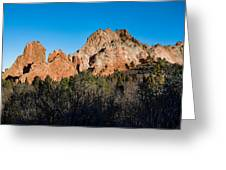 Garden Of The Gods Formation Greeting Card