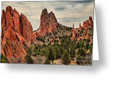 Garden Of The Gods Jagged Peaks Greeting Card