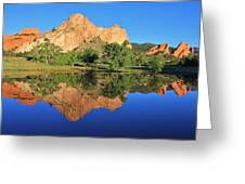 Garden Of The Gods Reflecting Greeting Card by Diane Alexander