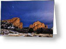 Garden Of The Gods Star Storm Greeting Card