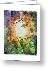 Garden Of Visions And Dreams Greeting Card