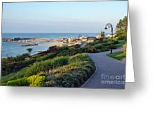 Garden Overview - Lyme Regis Greeting Card