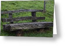 Garden Park Bench Greeting Card
