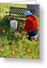 Garden Party In Park Sierra-ca Greeting Card