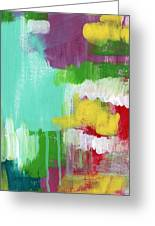 Garden Path- Abstract Expressionist Art Greeting Card