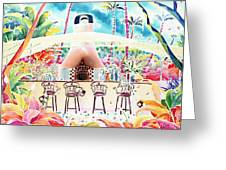 Garden Restaurant Greeting Card