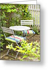 Garden Seating Area Greeting Card