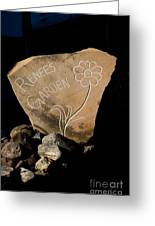Garden Signs Greeting Card by The Stone Age