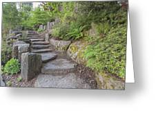 Garden Stair Steps With Natural Rocks Greeting Card