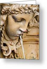 Garden Statue Of Tethys Greeting Card