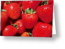 Garden Strawberries Greeting Card