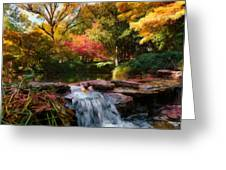 Garden Stream Greeting Card