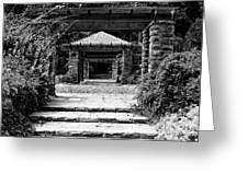 Garden Structure 1bw Greeting Card