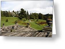 Garden View - Powerscourt Garden Greeting Card