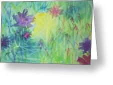 Garden Vortex Greeting Card