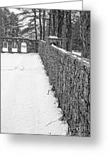 Garden Wall The Mount In Winter Greeting Card