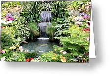 Garden Waterfall Greeting Card