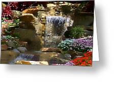 Garden Waterfalls Greeting Card