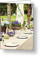 Garden Wedding Table Setting Greeting Card