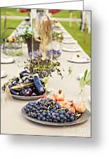 Garden Wedding Table Greeting Card