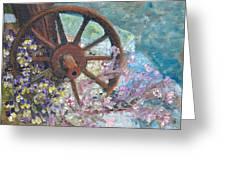 Garden Wheel Greeting Card