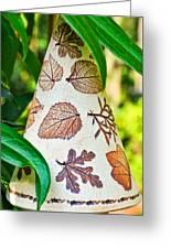 Garden Leaf Pattern Windchime Greeting Card