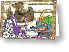 Gardener's Basket Greeting Card