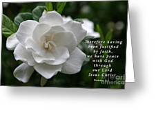 Gardenia Bloom And Scripture Greeting Card