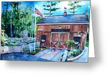 Gardening Shed Greeting Card