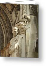 Gargoyle And The Lamb Greeting Card