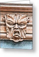 Gargoyle Head Helsingborg Greeting Card