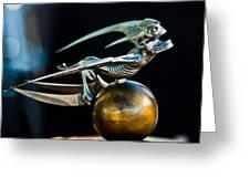 Gargoyle Hood Ornament Greeting Card by Jill Reger
