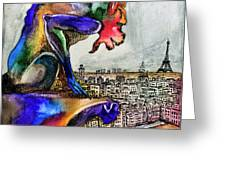 Gargoyle Of Color Greeting Card