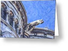 Gargoyle On Sacre Coeur Greeting Card