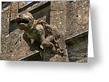 Gargoyle On The Church Of St Mary At Sudeley Castle Greeting Card