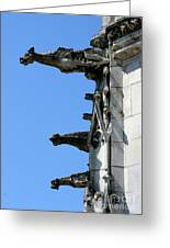 Gargoyles In A Row Greeting Card