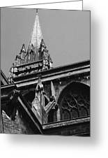 Gargoyles King's College Chapel Tower Greeting Card