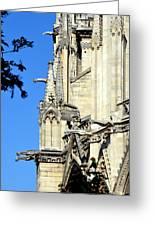 Gargoyles Of Notre Dame De Paris Greeting Card