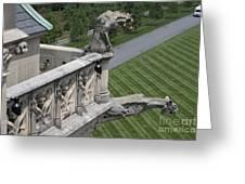 Gargoyles On Roof Of Biltmore Estate Greeting Card