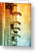 Gargoyles With Textures And Color Greeting Card