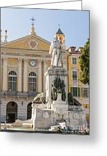 Garibaldi Monument In Nice France Greeting Card