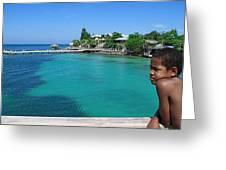 Garifuna Boy Greeting Card