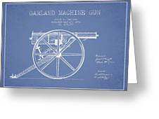 Garland Machine Gun Patent Drawing From 1892 - Light Blue Greeting Card