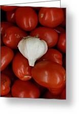 Garlic And Tomatoes Greeting Card