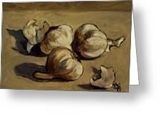 Garlic Greeting Card by Deborah Allison